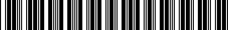 Barcode for 7662242070