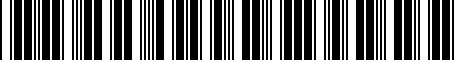 Barcode for PT39807100